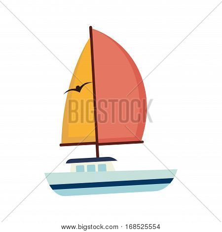 sailboat maritime emblem icon vector illustration design