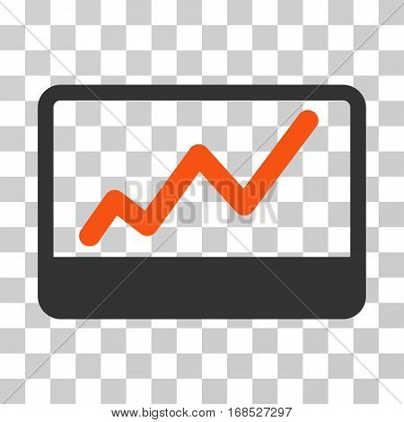 Stock Market icon. Vector illustration style is flat iconic bicolor symbol, orange and gray colors, transparent background. Designed for web and software interfaces.