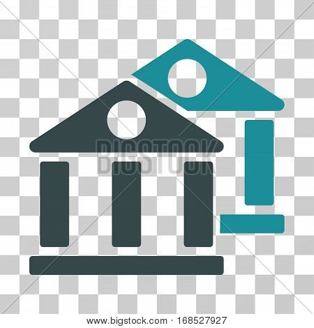 Banks icon. Vector illustration style is flat iconic bicolor symbol, soft blue colors, transparent background. Designed for web and software interfaces.