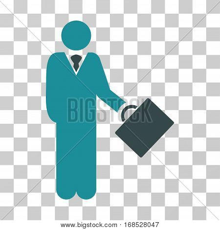 Businessman icon. Vector illustration style is flat iconic bicolor symbol, soft blue colors, transparent background. Designed for web and software interfaces.