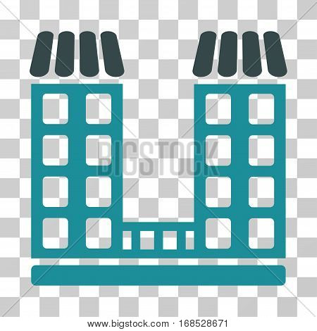 Company icon. Vector illustration style is flat iconic bicolor symbol, soft blue colors, transparent background. Designed for web and software interfaces.