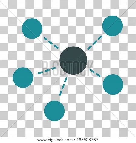 Connections icon. Vector illustration style is flat iconic bicolor symbol, soft blue colors, transparent background. Designed for web and software interfaces.