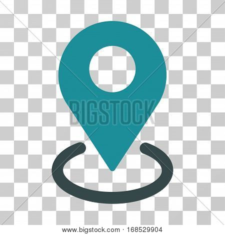 Geo Targeting icon. Vector illustration style is flat iconic bicolor symbol, soft blue colors, transparent background. Designed for web and software interfaces.