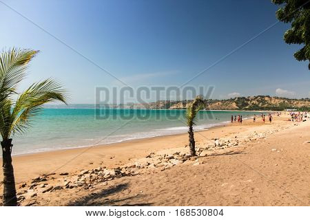 Cabo Ledo / Angola - May 2015: Beach of Cabo Ledo in Angola