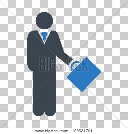 Businessman icon. Vector illustration style is flat iconic bicolor symbol, smooth blue colors, transparent background. Designed for web and software interfaces.