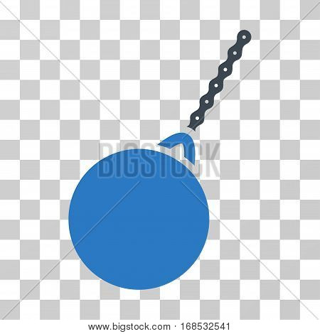 Destruction Hammer icon. Vector illustration style is flat iconic bicolor symbol, smooth blue colors, transparent background. Designed for web and software interfaces.