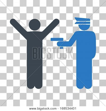 Police Arrest icon. Vector illustration style is flat iconic bicolor symbol, smooth blue colors, transparent background. Designed for web and software interfaces.