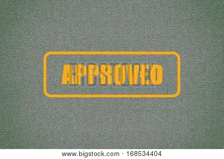 Approved Grunge Rubber Stamp