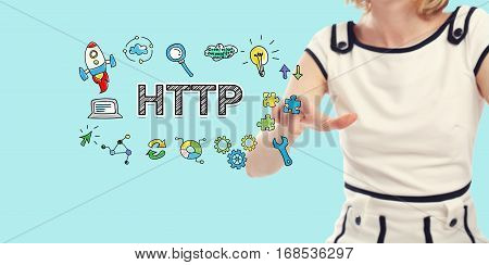 Http Concept With Young Woman