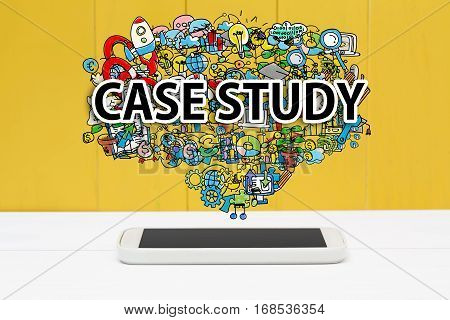 Case Study Concept With Smartphone