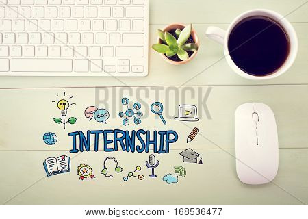 Internship Concept With Workstation