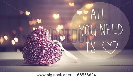 All You Need Is Love Message With Heart