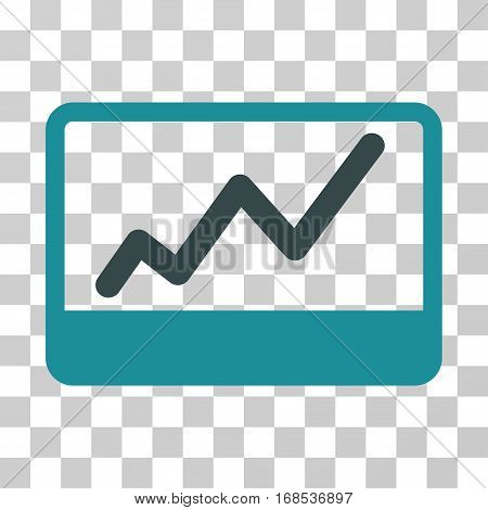 Stock Market icon. Vector illustration style is flat iconic bicolor symbol, soft blue colors, transparent background. Designed for web and software interfaces.