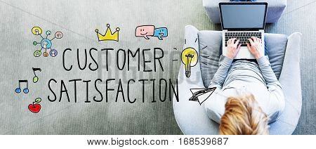 Customer Satisfaction Text With Man