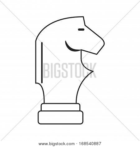 horse chess business corporate thin line vector illustration eps 10