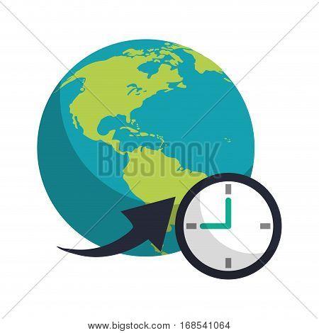 global world around clock business concept vector illustration eps 10