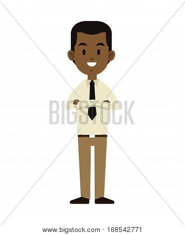 afroamerican man business employee work vector illustration eps 10