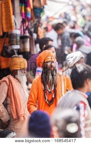 A Sadhu In The Market In Badrinath, North India.