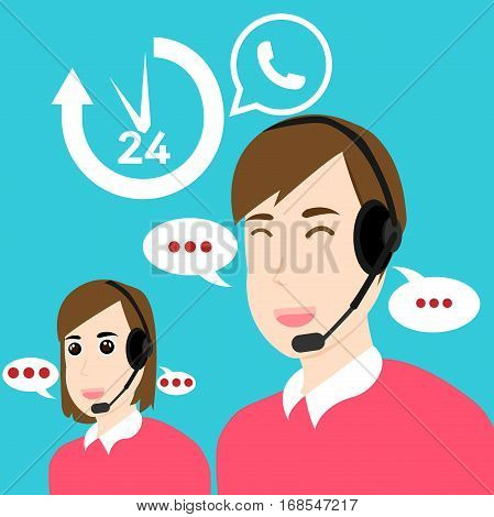 Call Center Customer Support Service Open 24 hours