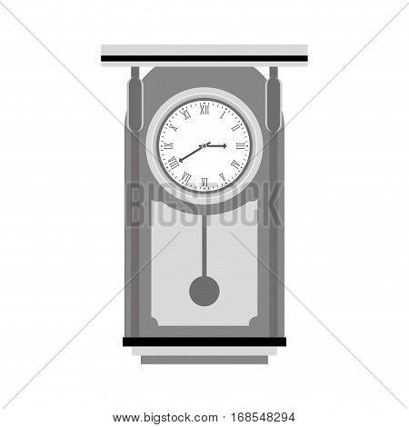pendulum clock icon image, vector illustration design