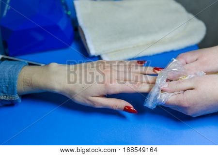 Wax bathtub for moistening of hands. Cosmetic wax
