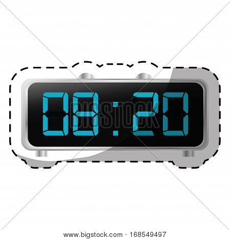digital clock and timer icon design, vector illustration