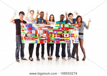 multi-ethnic group of young adults.