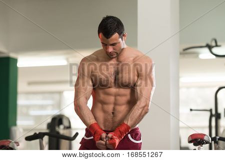Portrait Of A Mma Fighter In Health Club