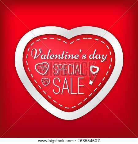 Valentine's Day Special Sale, Vector Illustration Festive Isolated