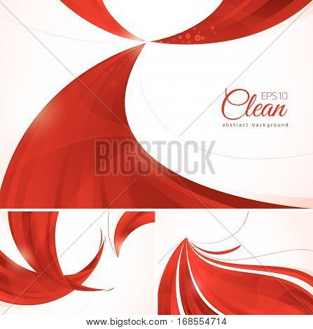 Red abstract background. A set of red vector abstract background suitable for your design element and web background
