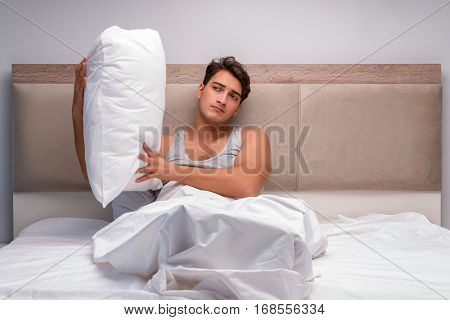 Man suffering from bad case of insomnia