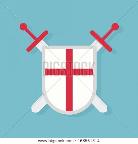 Shield and swords. Protection con