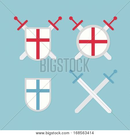 Icons medieval shields