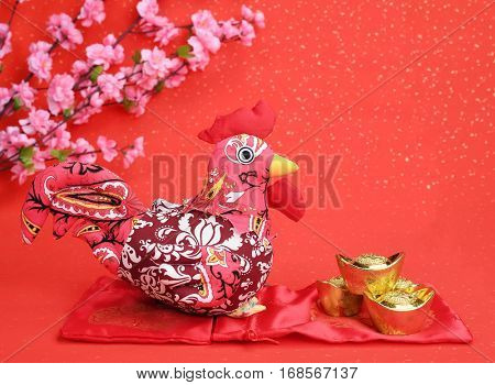 Tradition Chinese knot: Cloth doll Rooster.