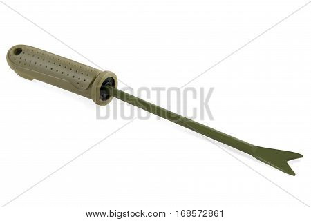 Gardening tools Hand Weeder isolated on white background.