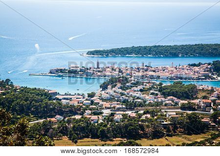 beautiful cityscape of Croatia, the city of Rab