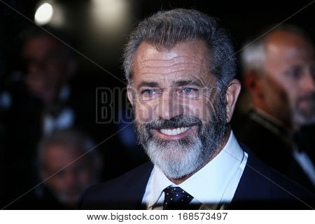 CANNES, FRANCE - MAY 21: Actor Mel Gibson attends the 'Blood Father' Premiere during the 69th annual Cannes Film Festival at the Palais des Festivals on May 21, 2016 in Cannes, France.
