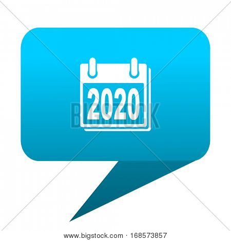 new year 2020 blue bubble icon
