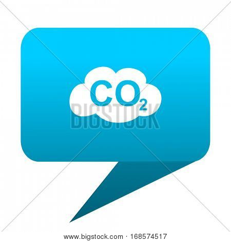 carbon dioxide blue bubble icon