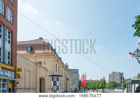 BERLIN, GERMANY- May 18, 2016: Typical Street view JMay 18, 2016 in Berlin, Germany. Berlin is the capital of Germany. With a population of approximately 3.5 million people.BERLIN, GERMANY