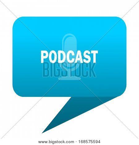 podcast blue bubble icon