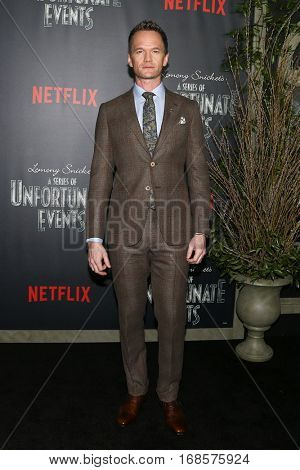 NEW YORK-JAN 11: Actor Neil Patrick Harris attends the premiere of NETFLIX's Lemony Snicket's