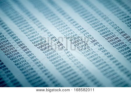 Concept for Financial Fraud Investigation, Audit and Analysis, Balance Sheet, Numbers Background, Accounts Concept