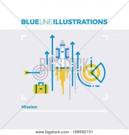 Mission Blue Line Illustration