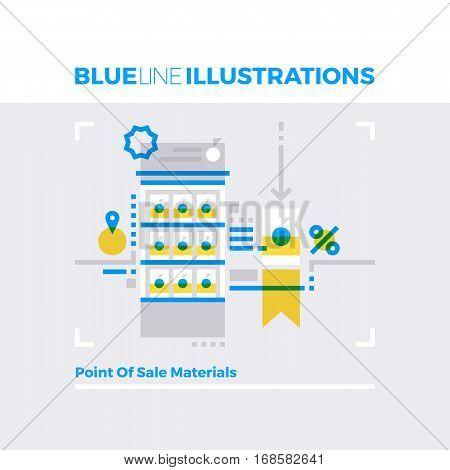Pos Materials Blue Line Illustration.