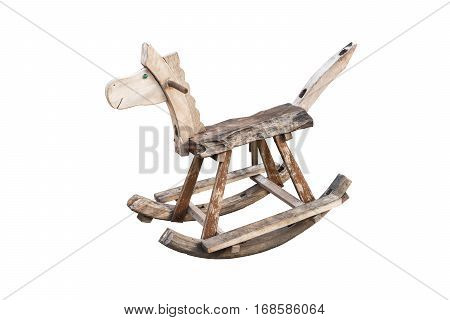 rocking seesaw horse isolated on white background