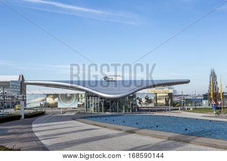 Modern Entrance Gate To Lufthansa Maintenance Area