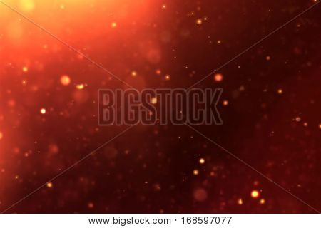 gold sparkle dust particles flowing background loop seamless ready golden light spot movement holiday cocept
