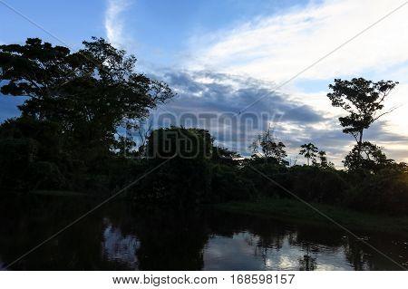 Yacuma River. Boat Crossing The Amazon.