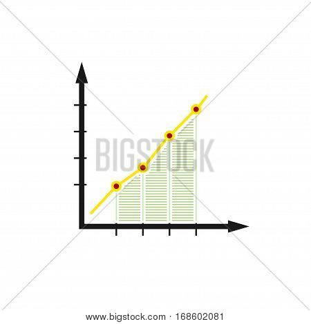 Chart ,Graphic Success, Graph Growth Isolated on White Background